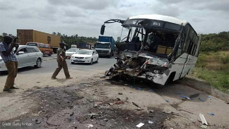 Two workers Dead in Staff bus Accident