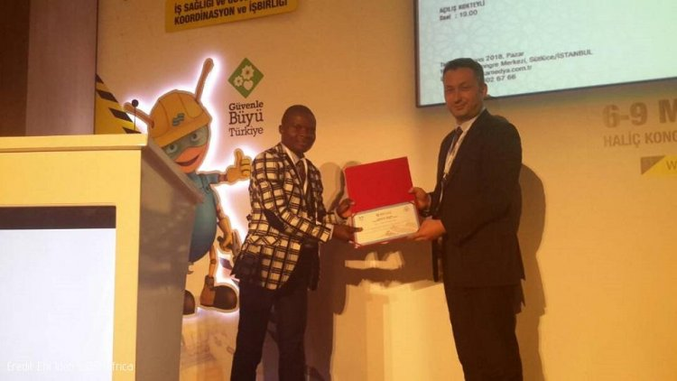 Kenyan Student Impresses at Istanbul Health and Safety Conference